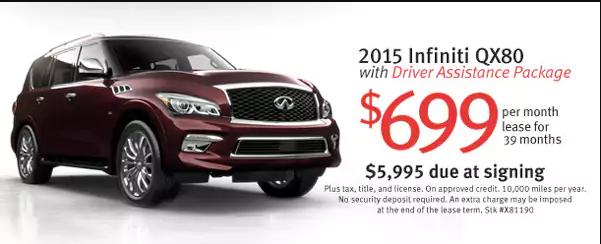 Infiniti qx80 lease deals