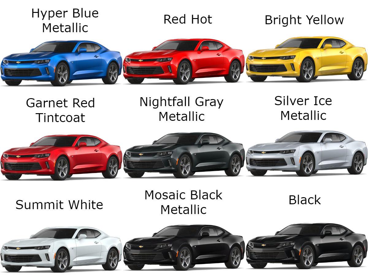 The 2018 Chevrolet Camaro Exterior Color Options Robbins
